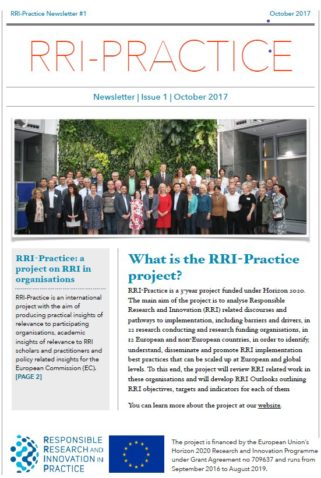 First RRI-Practice Newsletter published
