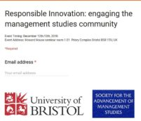 SAMS International Workshop – Responsible Innovation: Engaging the Management Studies Community