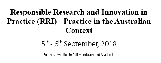 Workshop – RRI in the Australian context
