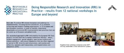 RRI-Practice poster for ESOF Euroscience Open Forum 2018 in Toulouse