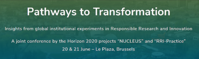 Pathways to Transformation conference – 20 & 21 June 2019, Brussels