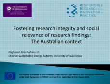 Peta Ashworth at the 6th World Conference on Research Integrity in Hong Kong