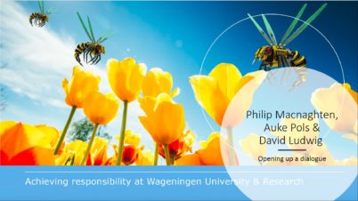 Achieving responsibility at Wageningen University & Research (WUR) – report launch on 9 July 2019